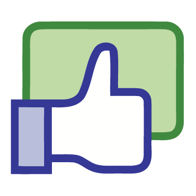 Facebook like button vector free download