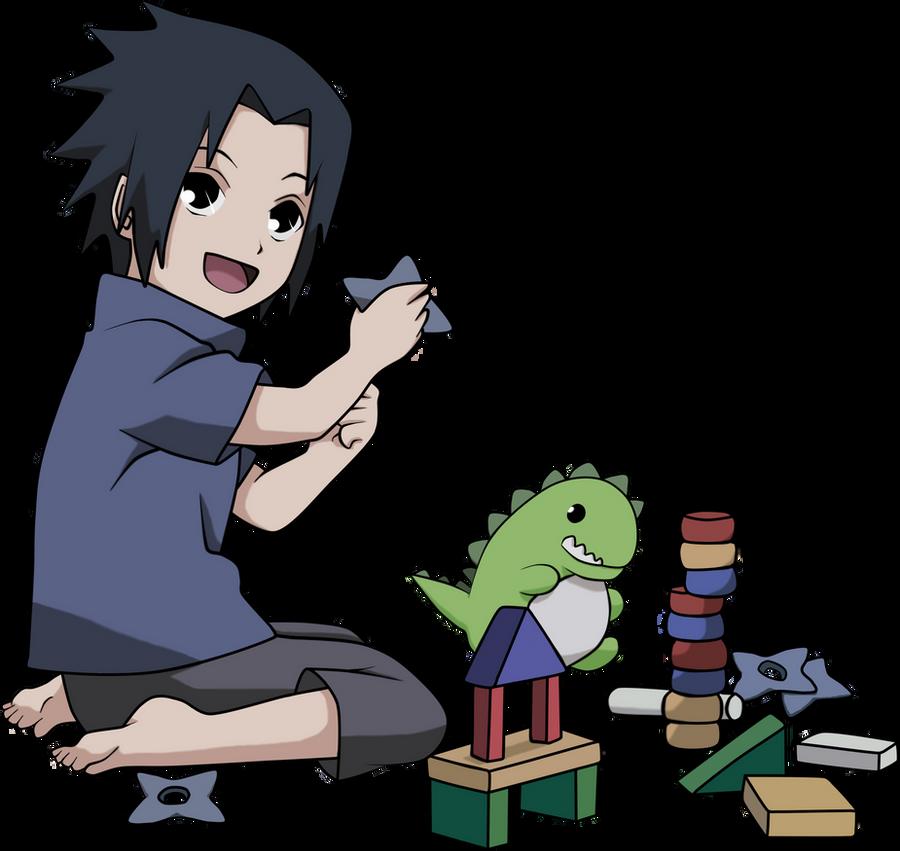 Cute Little Sasuke Playing by mlpochea on DeviantArt