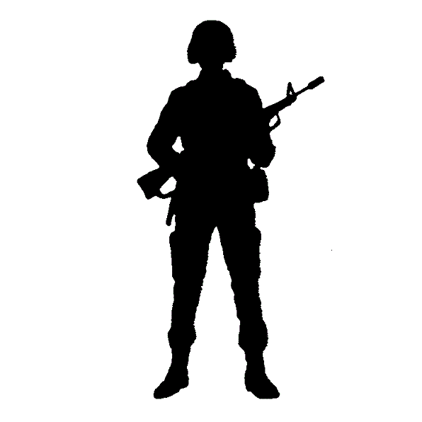 Clip art Army Soldier Silhouette Free content  indonesian