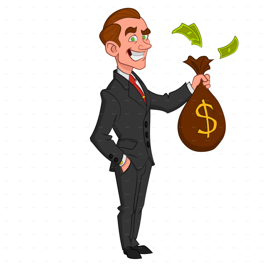 Library of businessman with money jpg transparent stock
