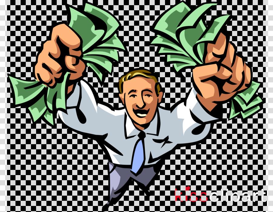 Man With Money Clipart Money Clip Art  Man Holding Money