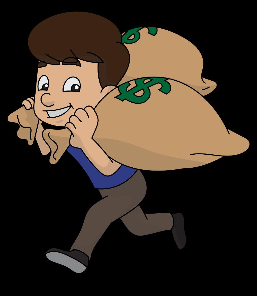 FileCartoon Guy Runs Away With Bags Of Moneysvg