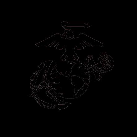 Silhouette Eagle Globe Silhouette Usmc Logo  Marine corps