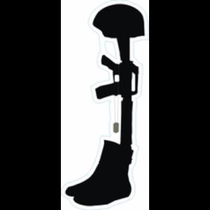 Vietnam Veterans Memorial Soldier Battlefield Cross ... - Memorial Day Soldier Silhouette