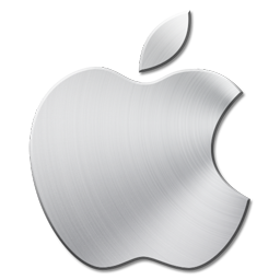 Apple 3 Icon  Brushed Metal Icons  SoftIconscom