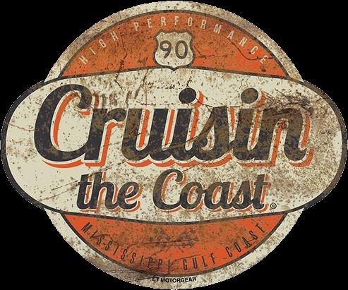2019 Cruisin the Coast Logo Metal Sign  ET Motorgear