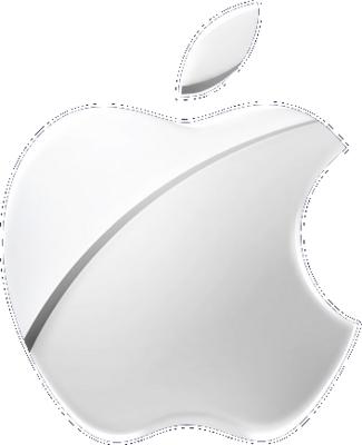 Free Silver Apple Logo PSD Vector Graphic  VectorHQcom