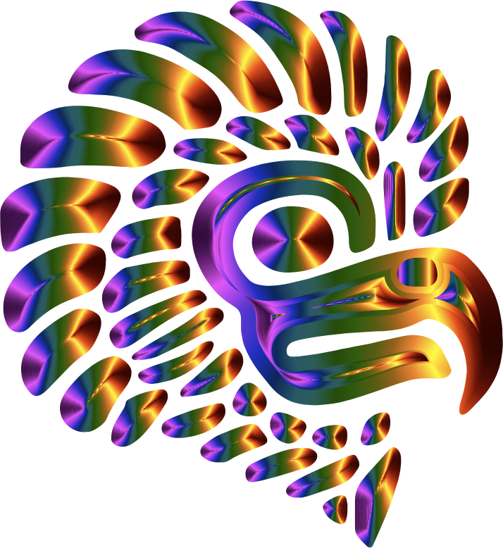 Prismatic Stylized Mexican Eagle Silhouette 5  Openclipart