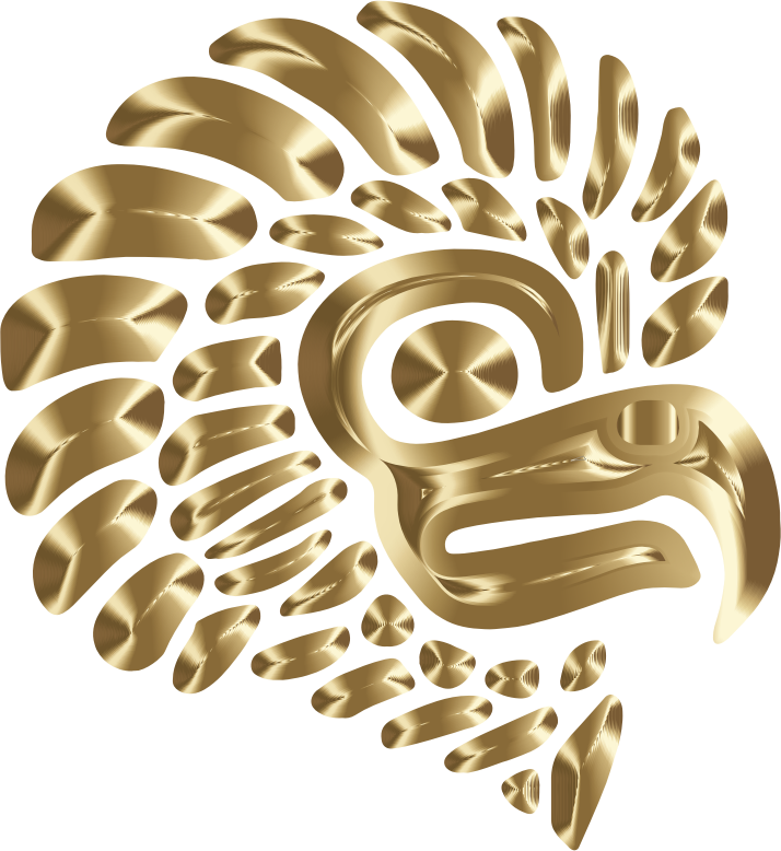Prismatic Stylized Mexican Eagle Silhouette 7  Openclipart