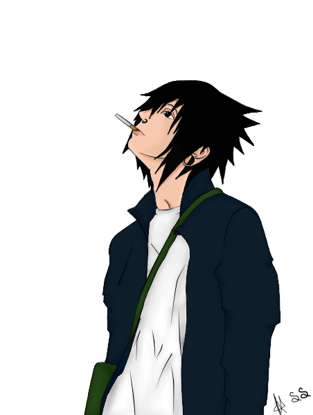 Sasuke Smokes by sasusakuGTC on DeviantArt