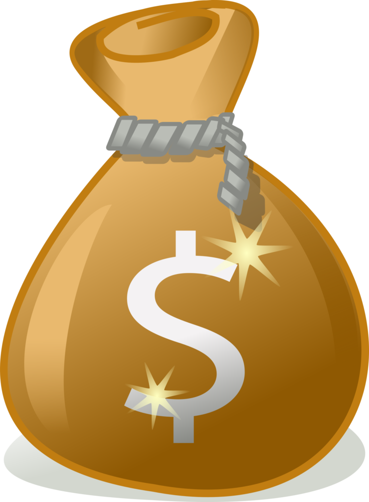 Clipart  money bag