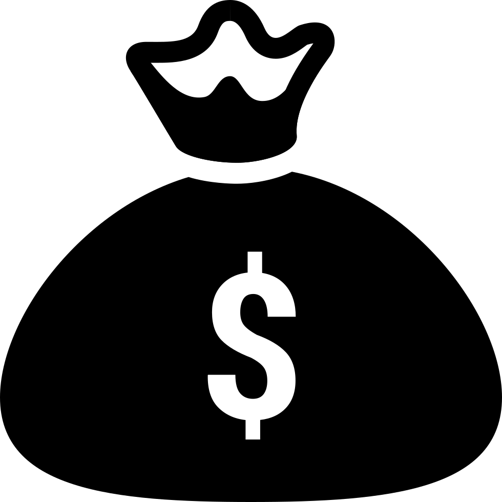 Library of money bag black and white svg download png