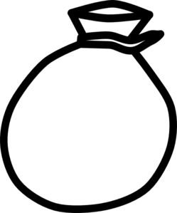 Sack Black And White Clipart  Clipart Suggest