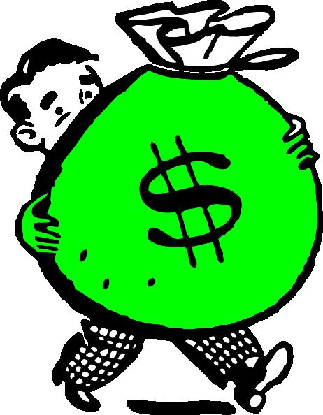 Green Money Bag Clip Art at Clkercom  vector clip art