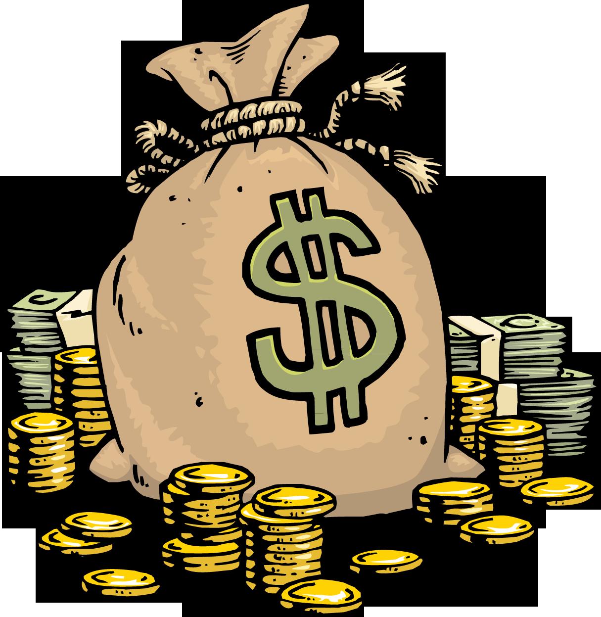 Download Money Cartoon Bag PNG Download Free Clipart PNG ... - Money Bag Clip Art Free