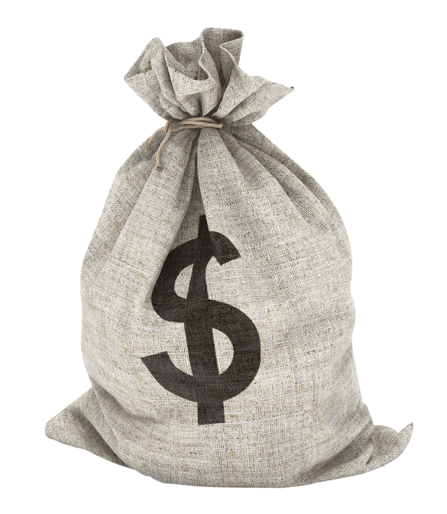 Library of money bag clip free transparent background png