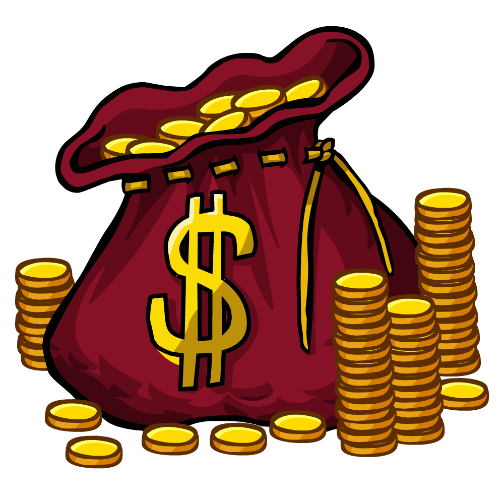 Coins Clipart | Free download on ClipArtMag - Money Bag Graphic
