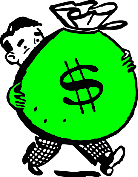 Money Bag Cartoon Clipart  Free download on ClipArtMag