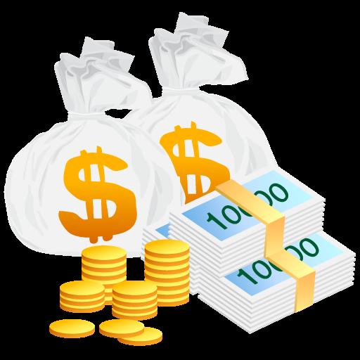 Money Bag Cash  Vector Money Icons  512px  Icon Gallery