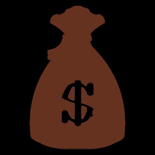 Money bag classic western outline illustration