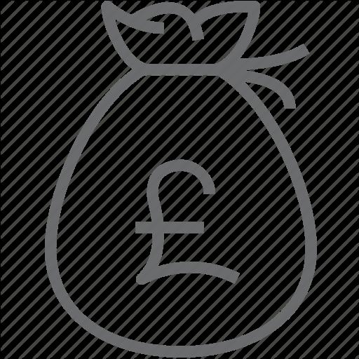 Bag money pound icon
