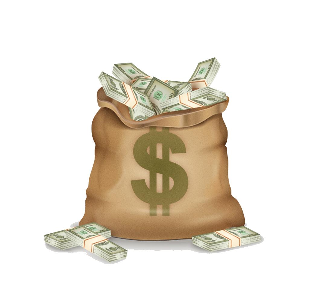 Download Pocketbook Money Dollar Sign Bag Vector Bank HQ
