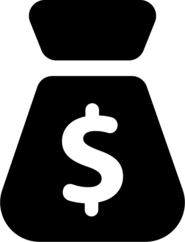 Money Bag Silhouette Svg Png Icon Free Download 27650