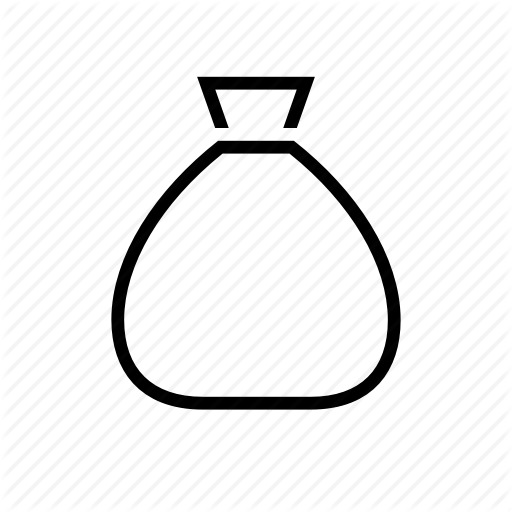Bag blank commerce money icon