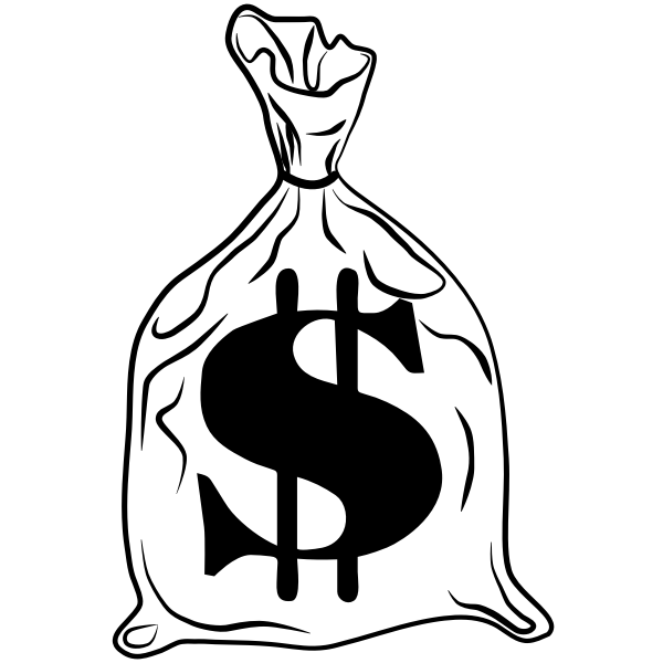 Money bag image  Free SVG