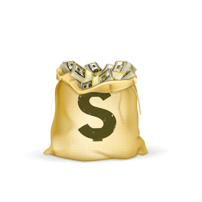 Money bag Royaltyfree Illustration  Vector purse png