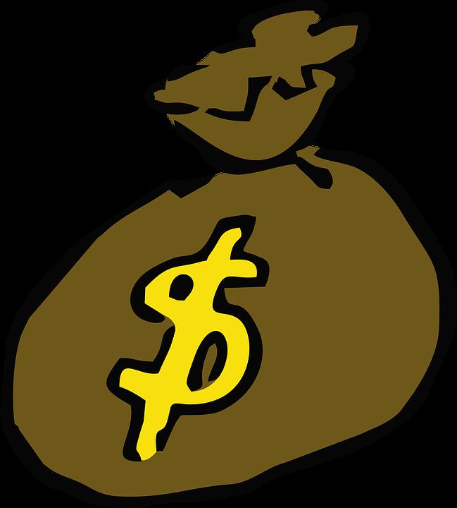 Geld Tas Bank Rich · Gratis vectorafbeelding op Pixabay - Money Bag Stencil