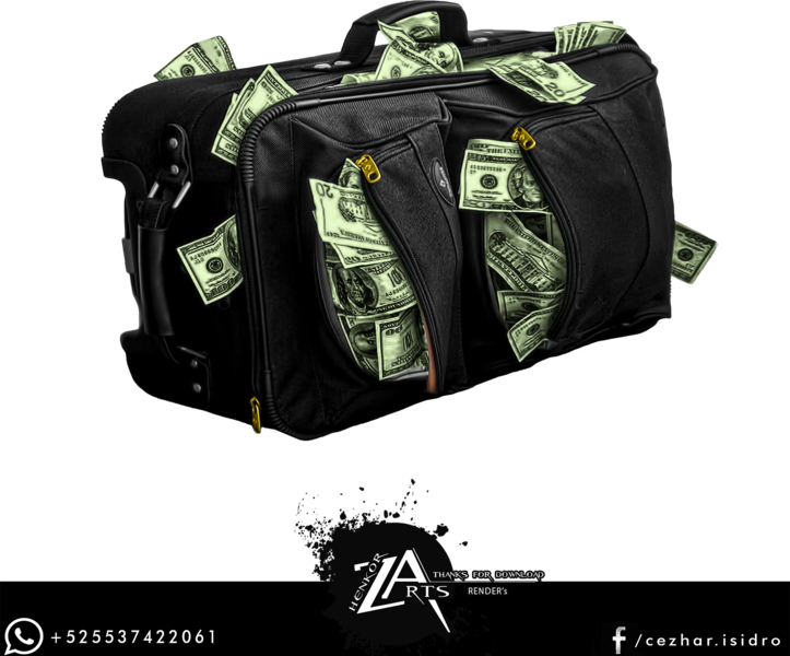 Suitcase With Money PSD  Official PSDs