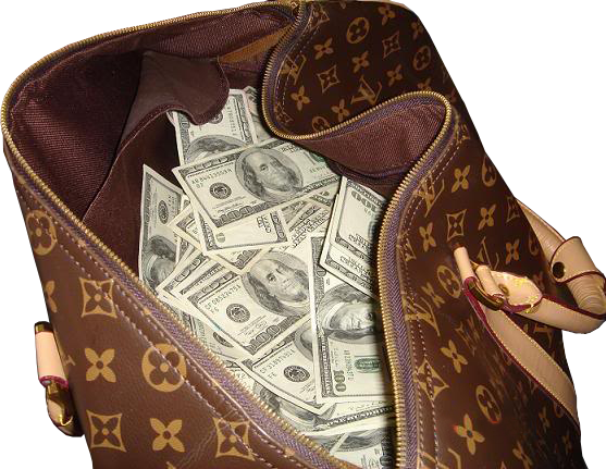Money In Bag PSD  Official PSDs