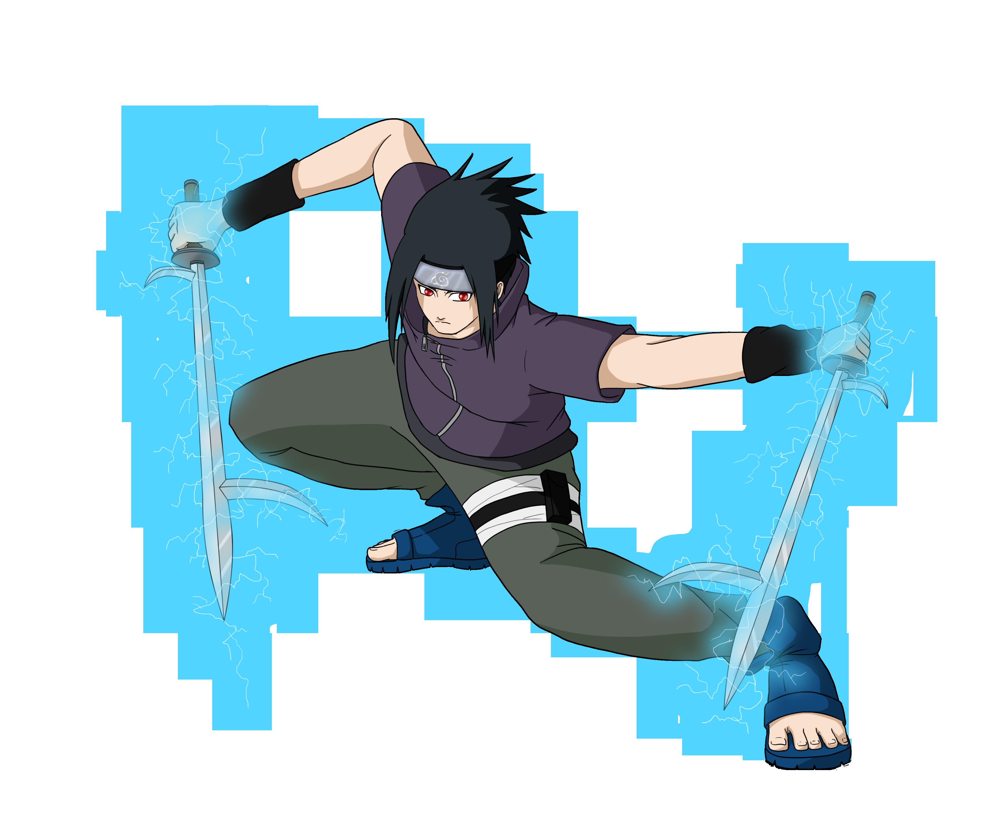 Sasuke Jutsu: Chidori Katana - Kiba by mattwilson83 on ... - Naruto Sasuke Chidori