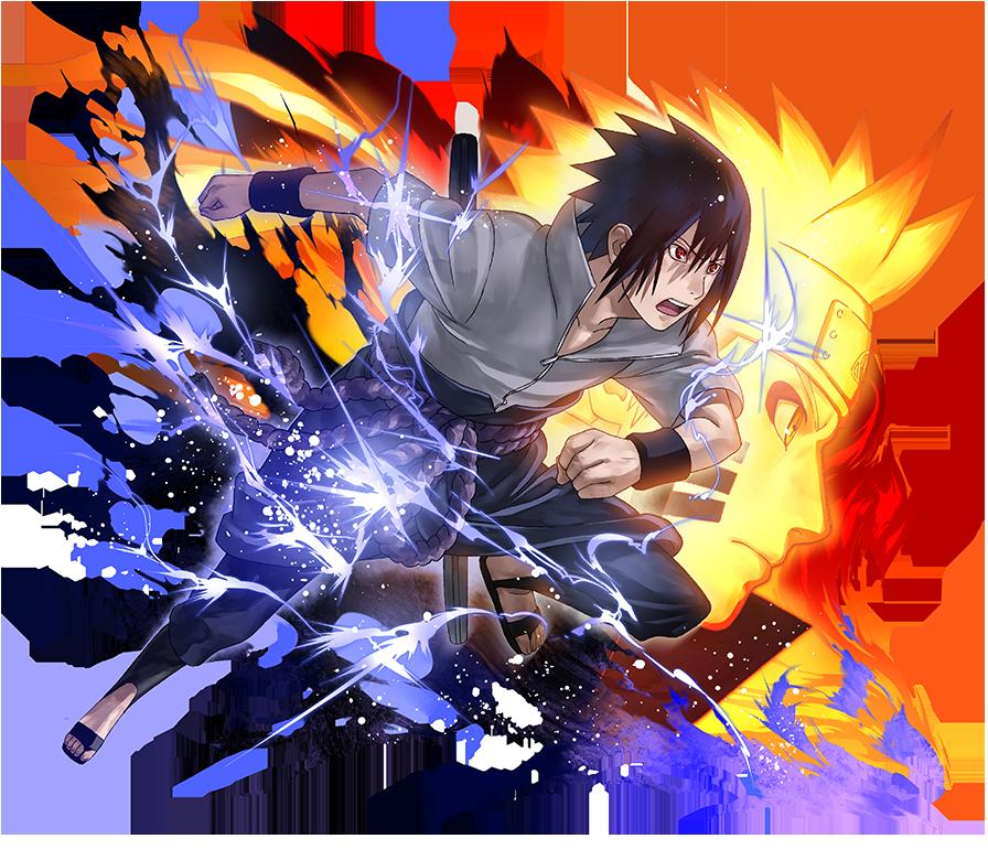 Sasuke Uchiha Naruto Uzumaki  Naruto Blazing by
