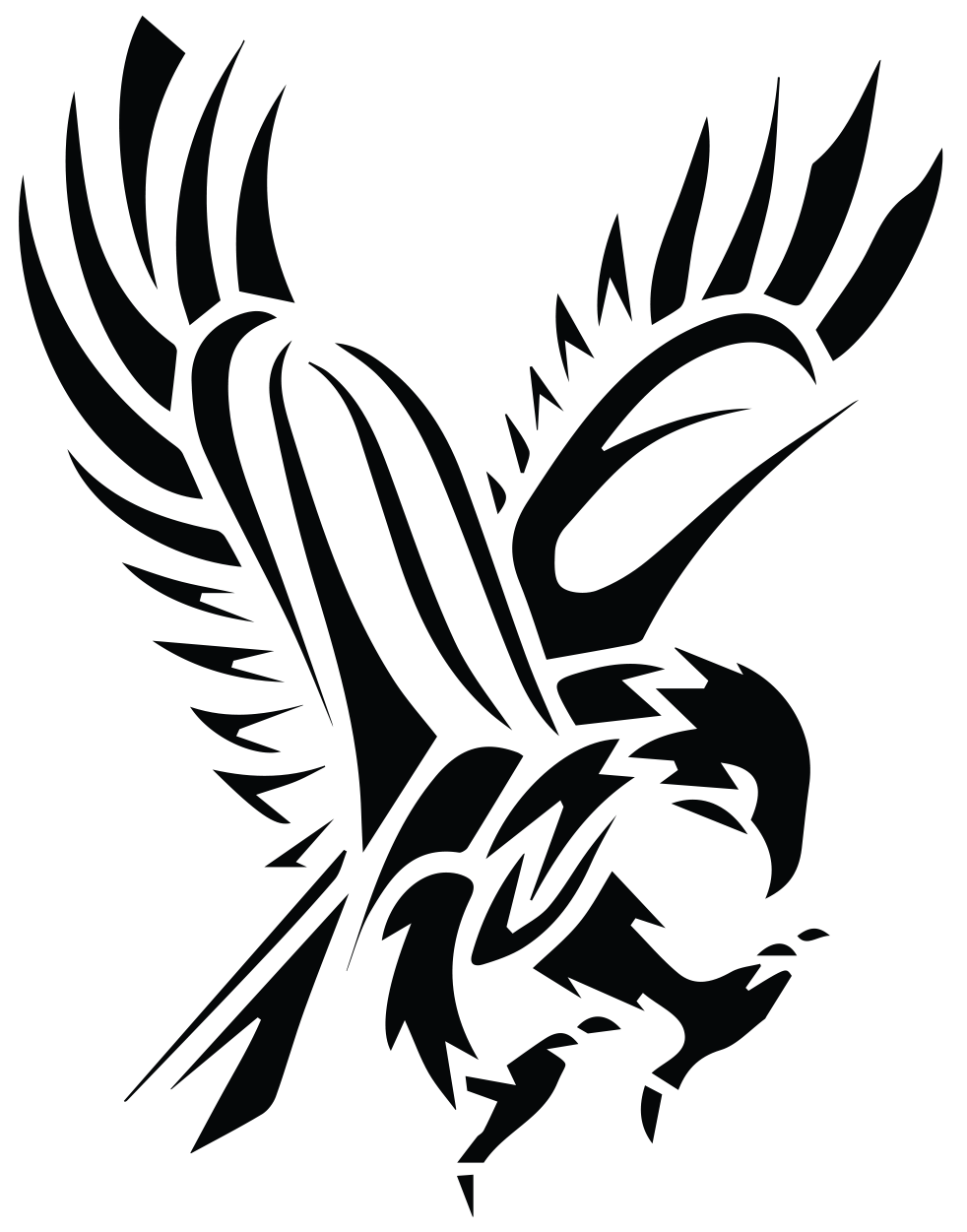 Black Hawk Drawing | Free download on ClipArtMag - Native American Eagle Silhouette