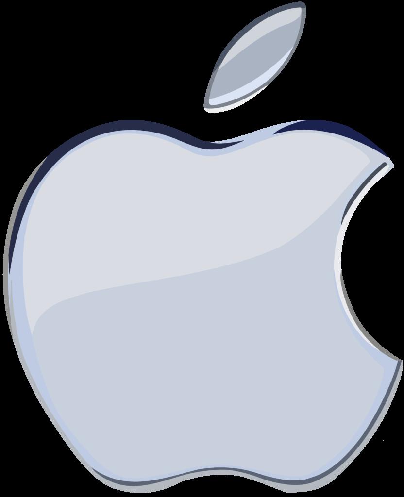 Silver Apple Logo 1 flat by WindyThePlaneh on DeviantArt