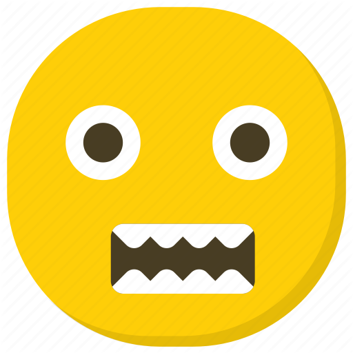 Emoji emoticon grimacing face nervous face smiley icon