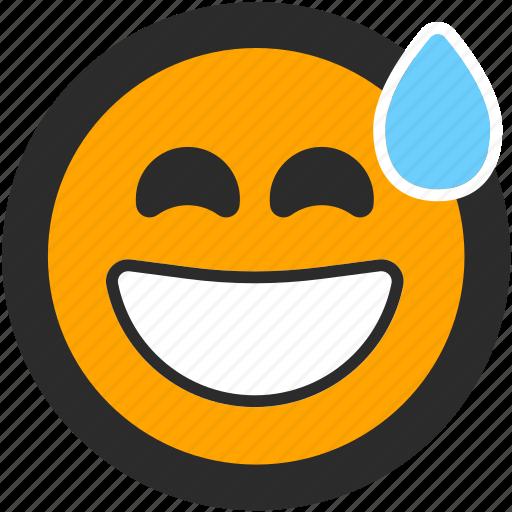 Embarrassed emoji expressions funny nervous