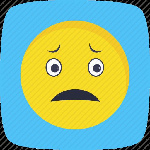 Emoticon face nervous smiley icon