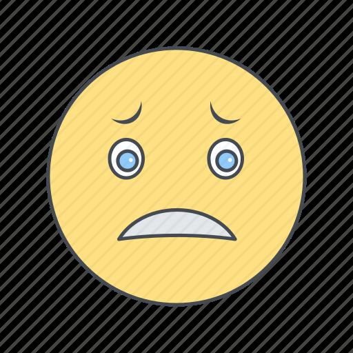 Emoji emoticon face nervous icon