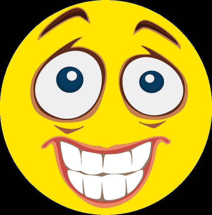 Clipart  Nervous Smiley