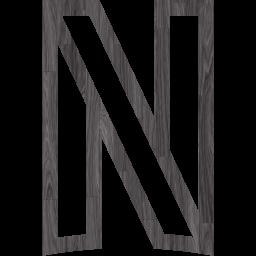 Black wood netflix icon  Free black wood site logo icons