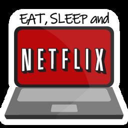 Eat Sleep and Netflix Sticker  Sticker Mania