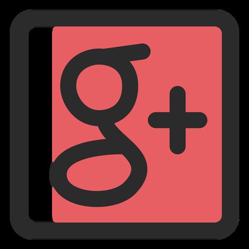 Google plus colored stroke icon  Transparent PNG  SVG