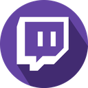 games logo social network twitch icon  Happily Colored