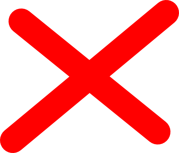 Wrong X Clip Art at Clkercom  vector clip art online