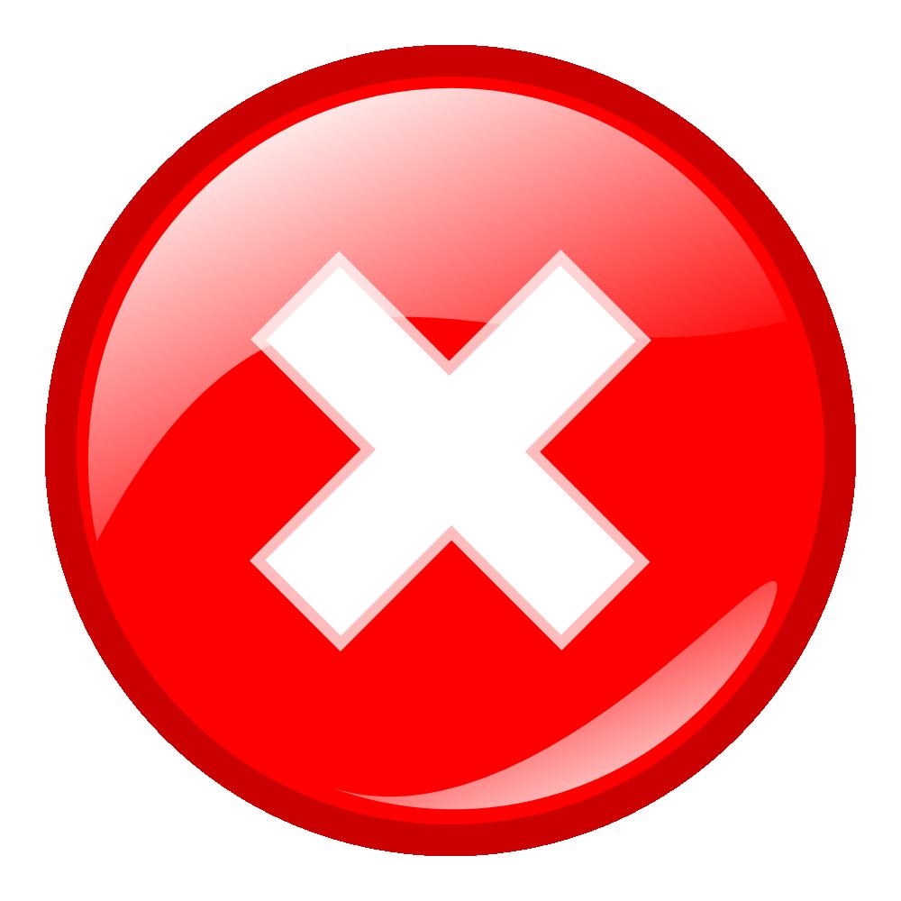 OnlineLabels Clip Art  Red Round Error Warning Icon