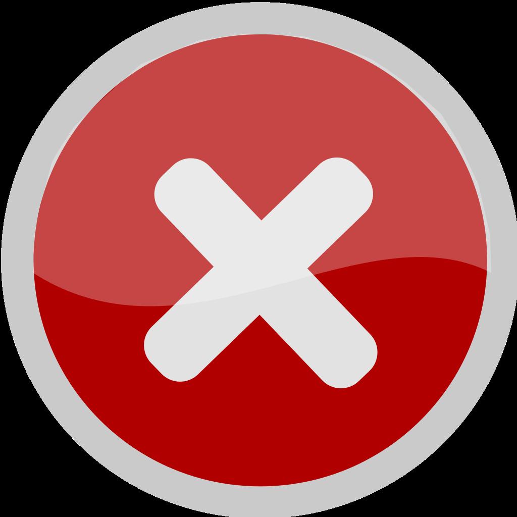 Archivo:No icon (white X on red circle).svg - Wikipedia ... - No Red X Icon