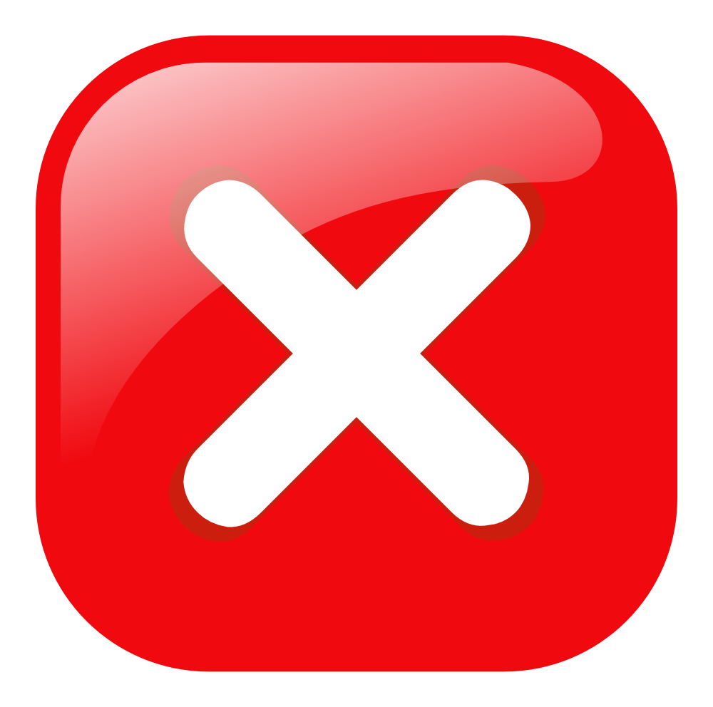 OnlineLabels Clip Art  Red Square Error Warning Icon